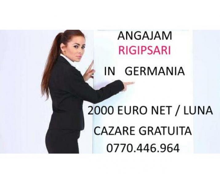 Angajam rigipsar in Germania