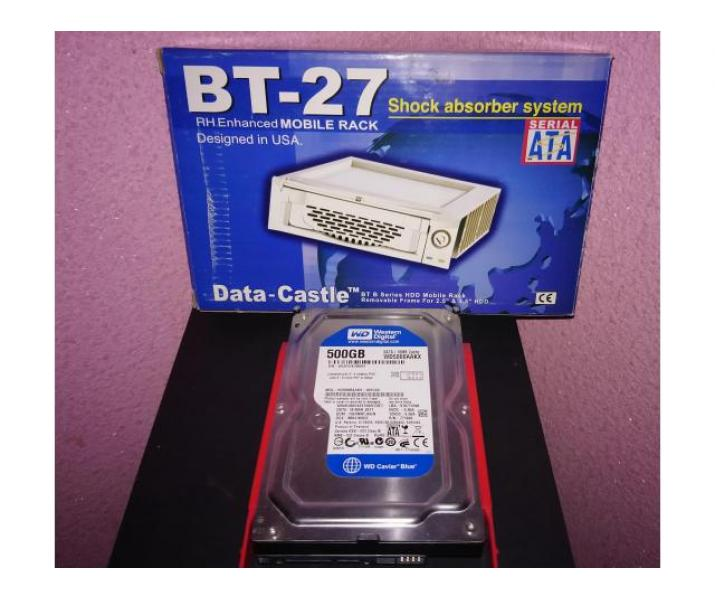 HDD WD Blue 500GB, 7200rpm, 16MB, SATA-3 + Rack Mobile BT-27 CADOU!